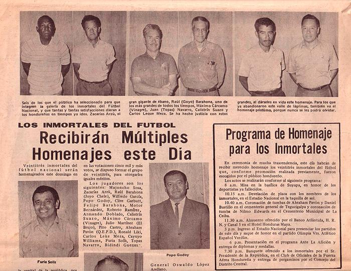 Nota del colega La Prensa del 25 de octubre de 1970, donde mencionaba la promoción de Los Inmortales.