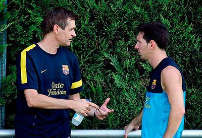 """""""Un persona difícil de olvidar. Siempre te recordaremos. Todo mi cariño a la familia de Tito"""", dijo Messi tras enterrase de la muerte del Vilanova."""