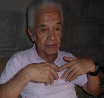 Felipe Santiago Figueroa, leyenda viviente del arbitraje nacional.