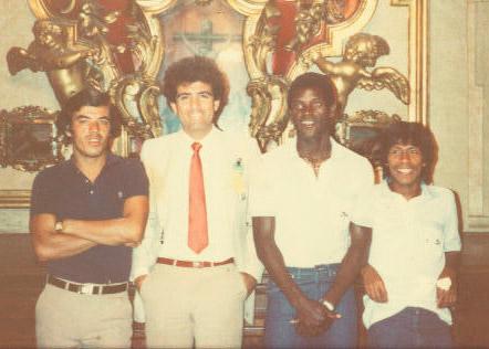 Una gráfica histórica en España 1982, aparece con Javier Toledo (QDDG), Allan Costly y Ramón Maradiaga.