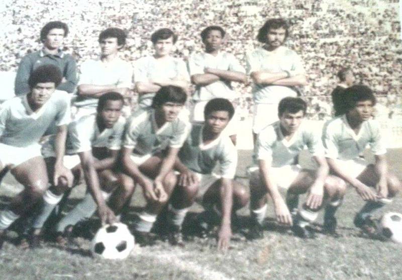 """El tremendo Broncos de la bella Choluteca con grandes figuras de los setentas, donde destacaba como goleador Ramón """"Guaya"""" Cruz."""