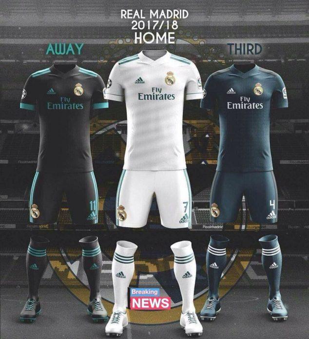 d63c195e6ec25 Real Madrid presentó su indumentaria para la temporada 2017-2018 ...